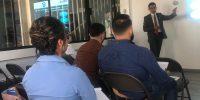 Nuestro gerente de Comercio Exterior impartiendo magistralmente el curso de Anexo 31 en nuestra Sala de Conferencias EUSAGA