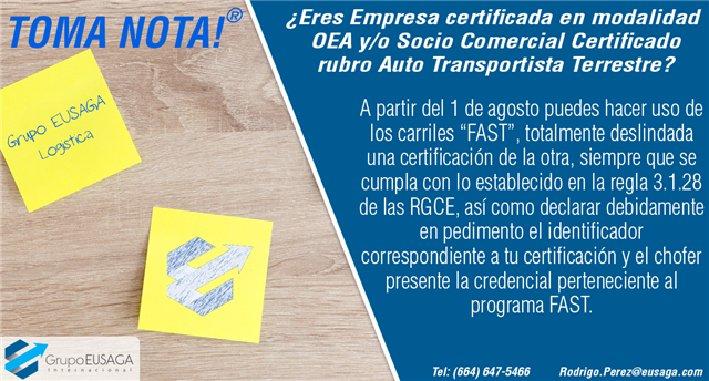 """¡TOMA NOTA! - CARRILES """"FAST"""""""
