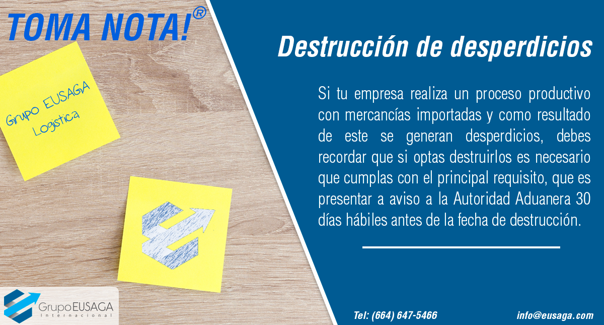 ¡Toma Nota! - Destrucción de desperdicios