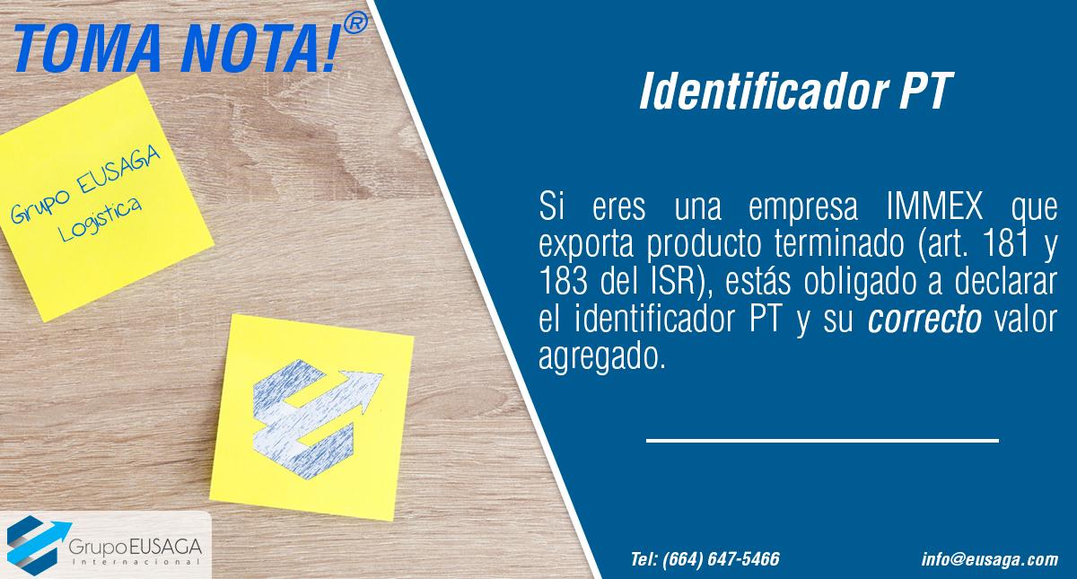 ¡Toma Nota!: Identificador PT